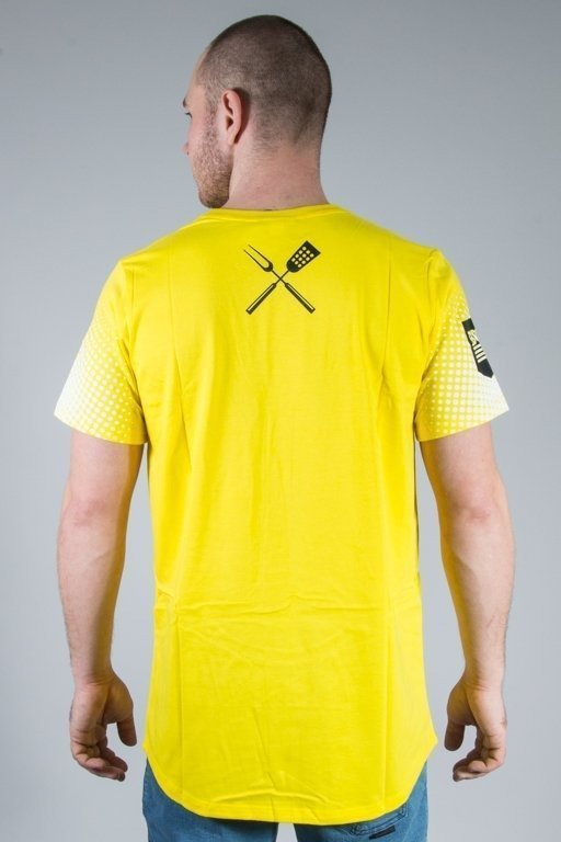 DIAMANTE WEAR T-SHIRT GRILL & BEER YELLOW