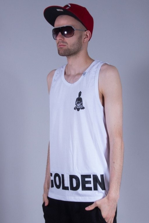 DIAMANTE WEAR TANK TOP GOLDEN CHILD WHITE