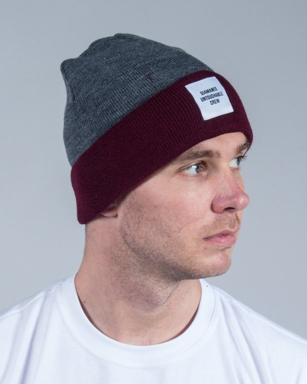 DIAMANTE WEAR WINTER CAP UNTOUCHABLE CREW GREY-BRICK