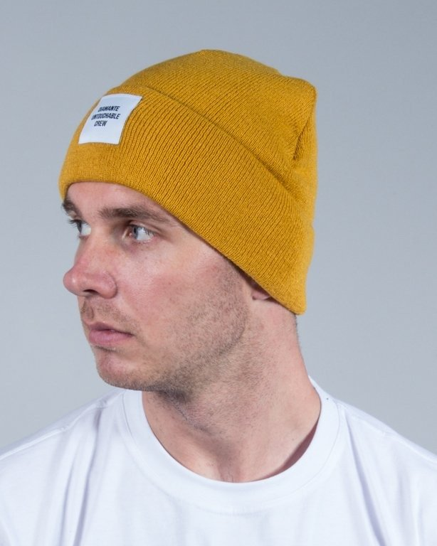 DIAMANTE WEAR WINTER CAP UNTOUCHABLE CREW HONEY