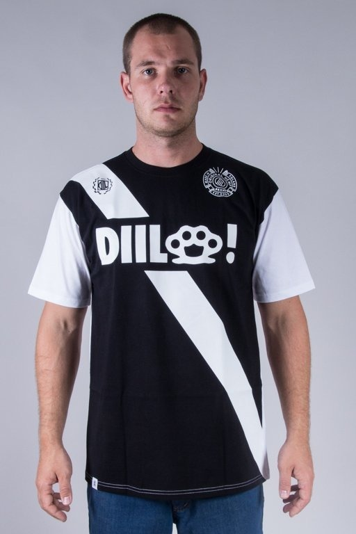 DIIL T-SHIRT STRIP BLACK-WHITE