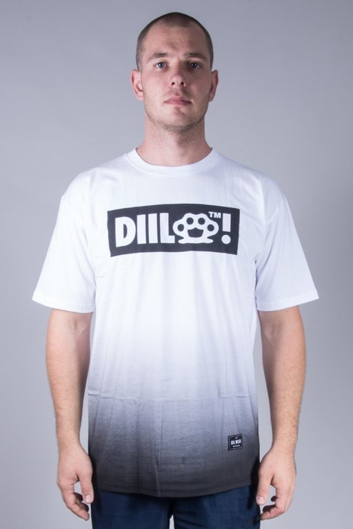 DIIL T-SHIRT TONE WHITE-BLACK