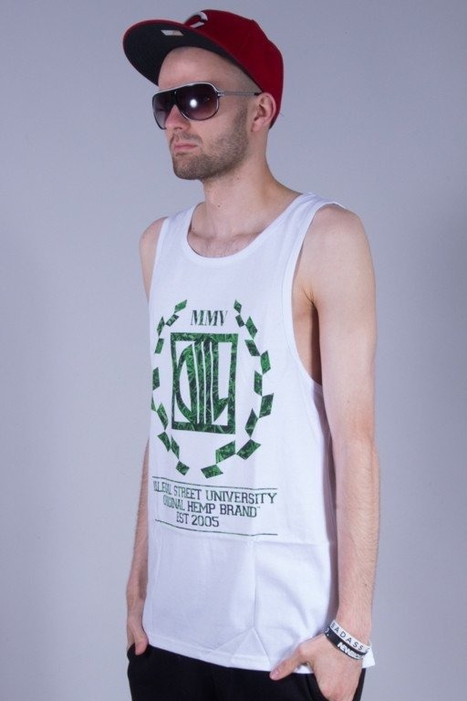DIIL TANK TOP  WEED WHITE