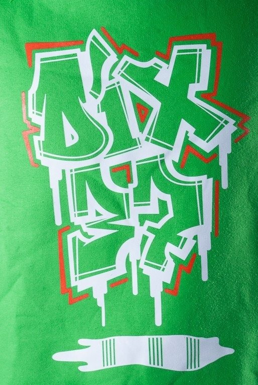 DIXON 37 BLUZA BEZ KAPTURA GRAFFITI GREEN