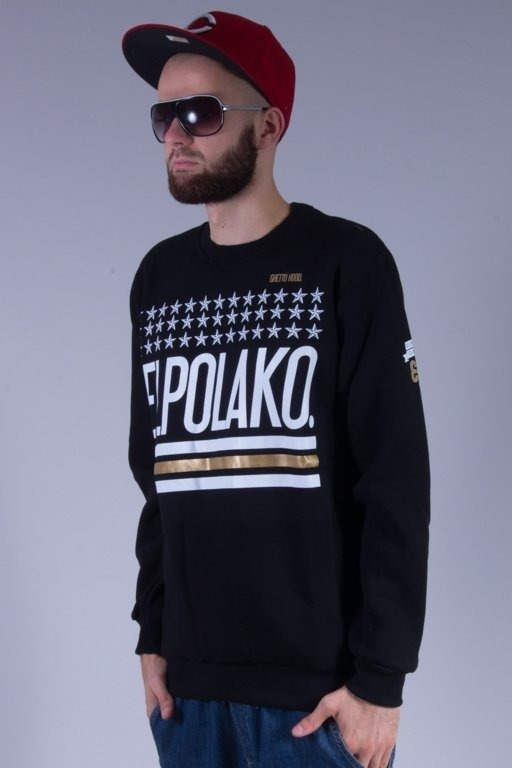 EL POLAKO BLUZA BEZ KAPTURA GHETTO HOOD BLACK