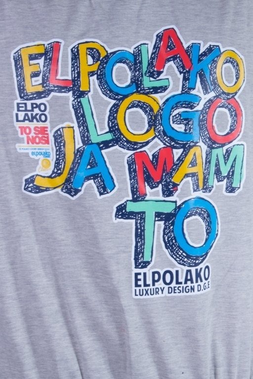 EL POLAKO BLUZA BEZ KAPTURA LTD  LIGHT LOGO JA MAM TO MELANGE