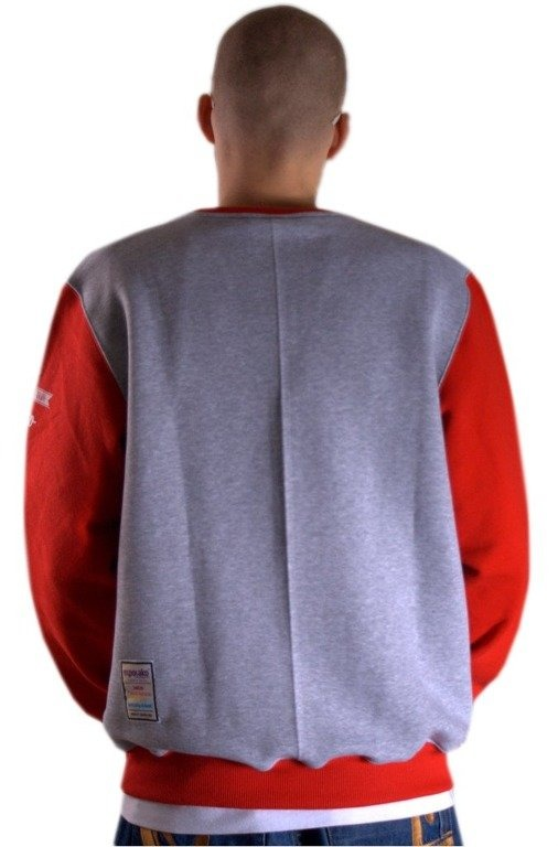 EL POLAKO BLUZA BEZ KAPTURA RIDERZ GREY-RED