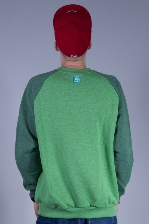 EL POLAKO BLUZA BEZ KAPTURA WRITTEN GREEN