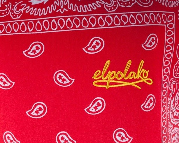 EL POLAKO BLUZA Z KAPTUREM BANDANA RED