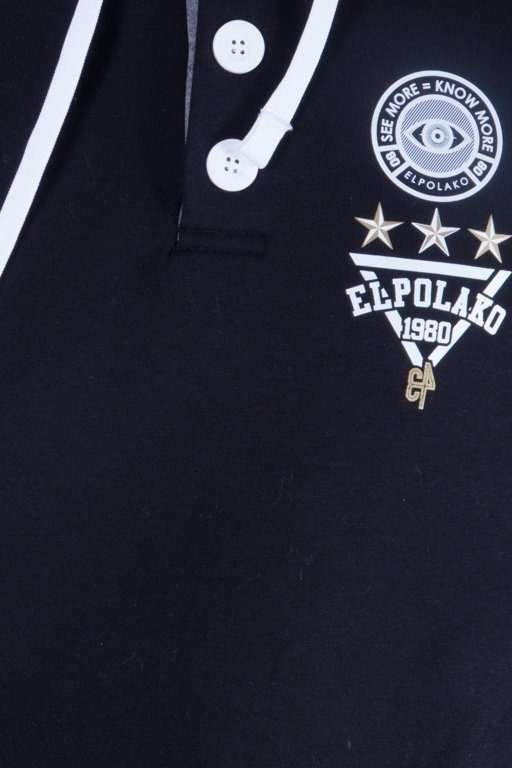 EL POLAKO BLUZA Z KAPTUREM ROYAL HOOD BLACK