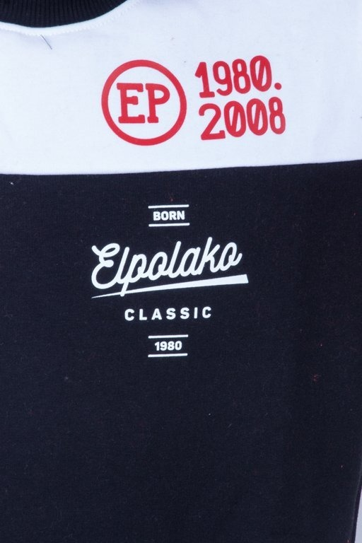 EL POLAKO CREWNECK HALF COLOUR BLACK