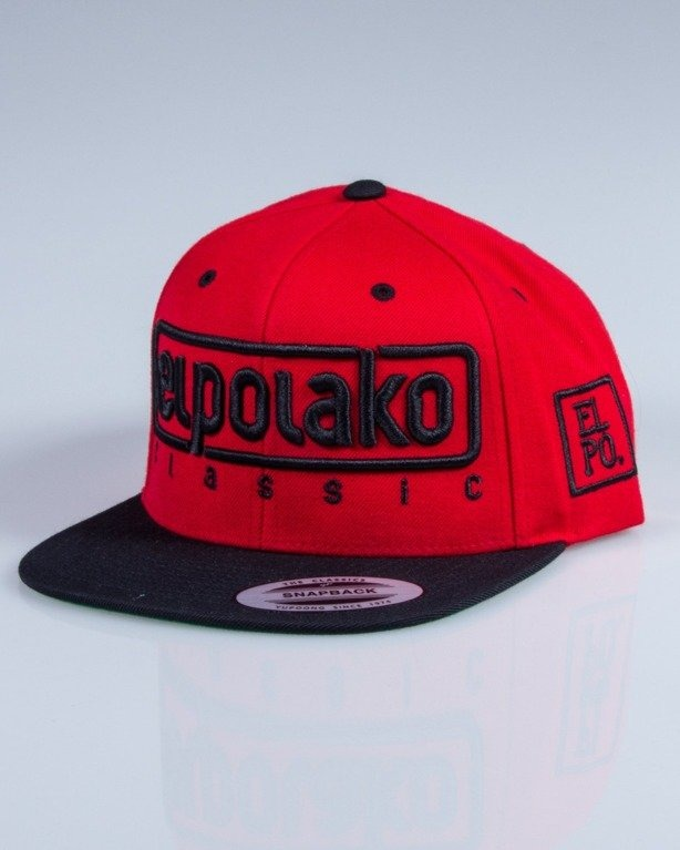 EL POLAKO CZAPKA SNAPBACK EP RED-BLACK
