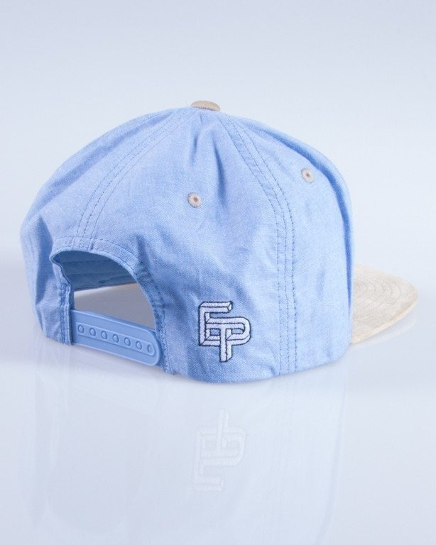 EL POLAKO CZAPKA SNAPBACK WRITTEN ROYAL BLUE-BEIGE