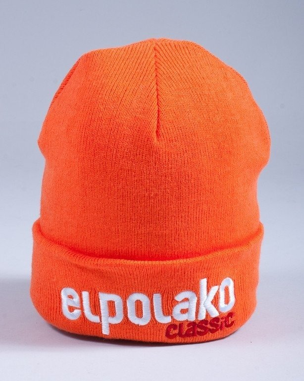 EL POLAKO CZAPKA ZIMOWA CLASSIC ORANGE