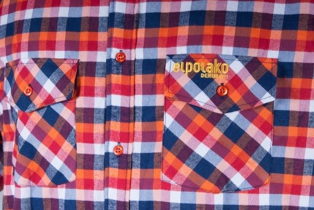 EL POLAKO KOSZULA CLASSIC ORANGE-RED