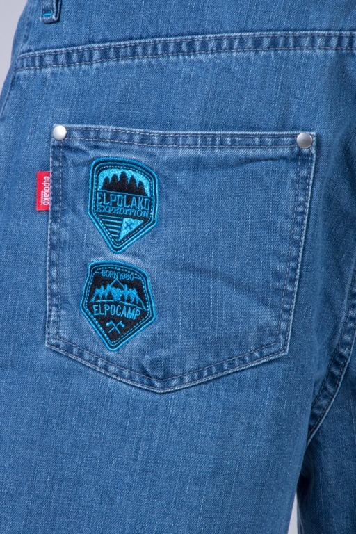EL POLAKO SPODNIE JEANS BAGGY GORILLA LIGHT