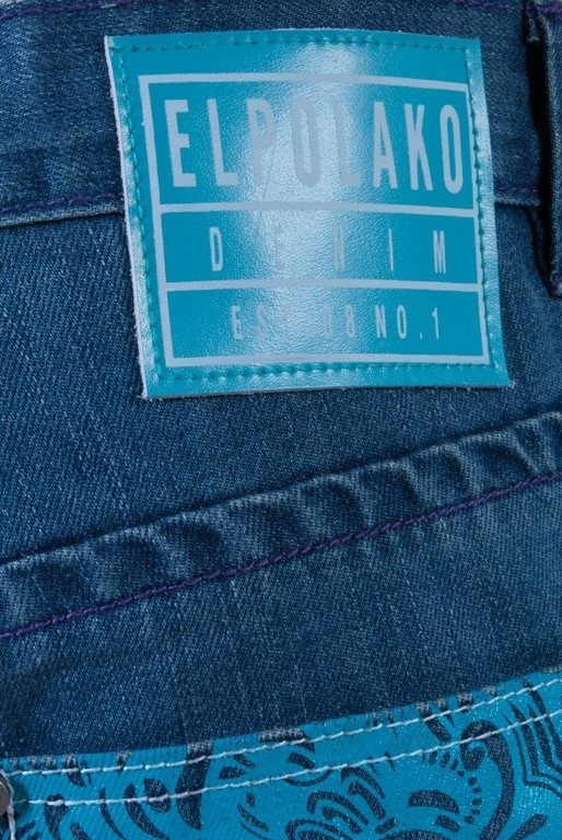 EL POLAKO SPODNIE JEANS CHIEF HALF SLIM LIGHT BLUE