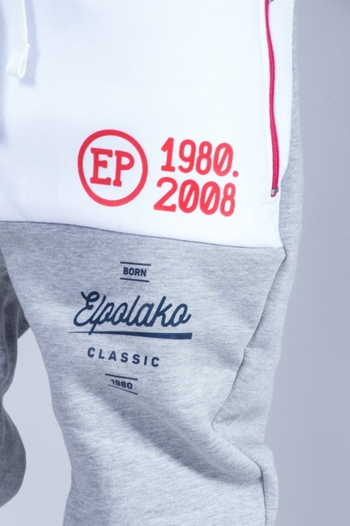 EL POLAKO SWEATPANTS HALF COLOR MELANGE