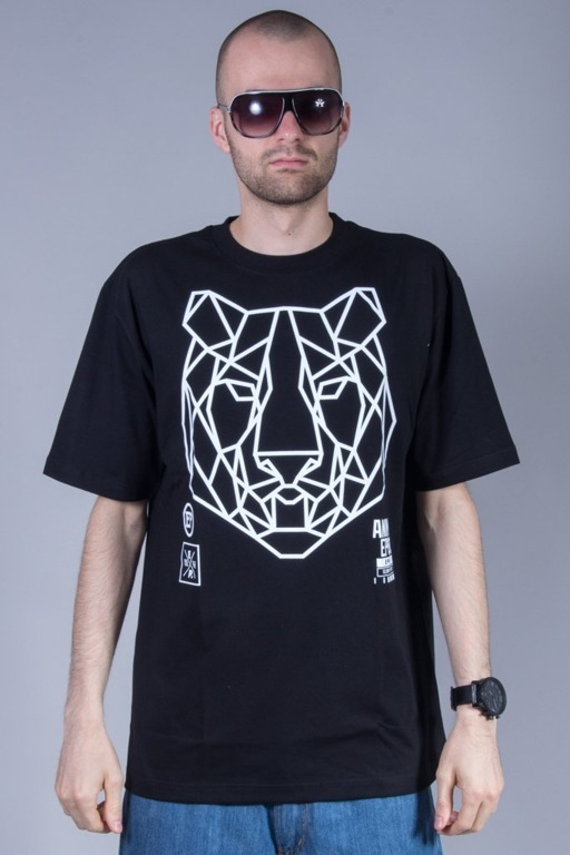 EL POLAKO T-SHIRT GEOMETRIC TIGER BLACK
