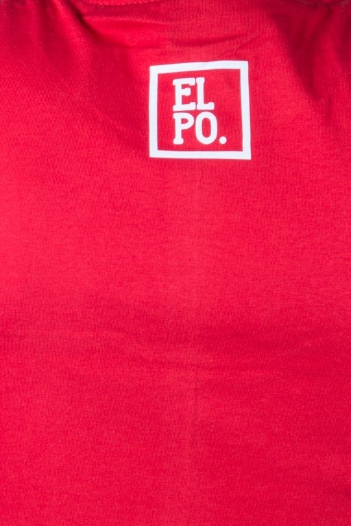 EL POLAKO T-SHIRT HALF COLOUR RED