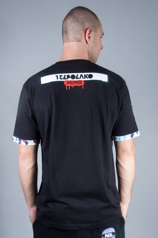 EL POLAKO T-SHIRT POCKET GRAFFITI BLACK