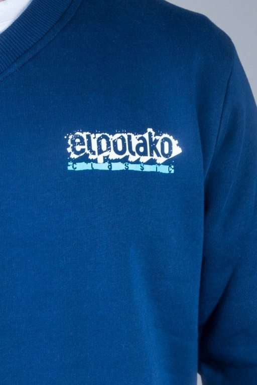 EL POLAKO V-NECK PAINT NAVY
