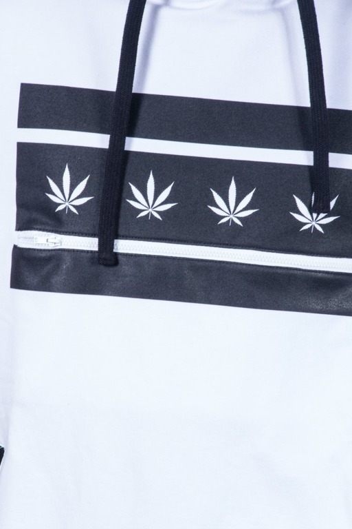 GANJA MAFIA BLUZA Z KAPTUREM GENERAL BLACK-WHITE