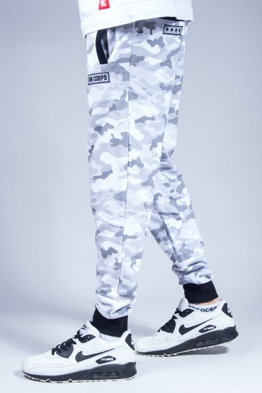 GANJA MAFIA SWEATPANTS CORPS CAMO GREY