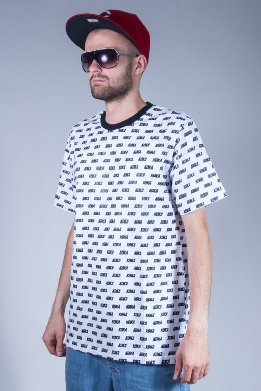 KOKA T-SHIRT OVERPRINT WHITE