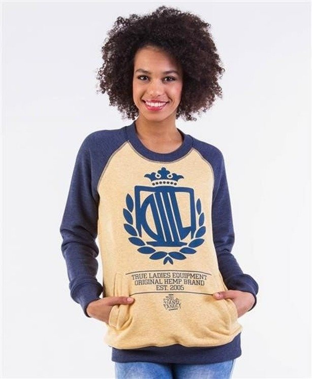 LADY DIIL BLUZA BEZ KAPTURA HARVARD YELLOW-NAVY