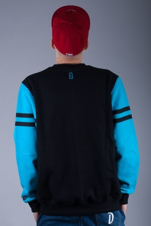 LUCKY DICE BLUZA BEZ KAPTURA NEW CREWNECK BLACK-BLUE