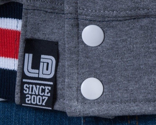 LUCKY DICE BLUZA Z KAPTUREM ZIP BASE COLLEGE GREY