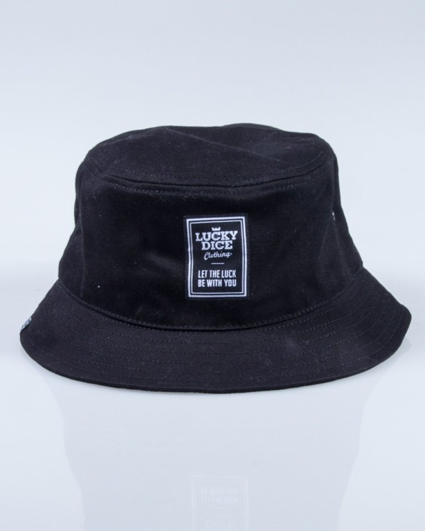 LUCKY DICE BUCKET HAT LABEL BLACK