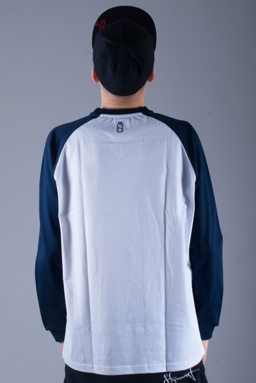 LUCKY DICE LONGSLEEVE LDC WHITE-NAVY BLUE