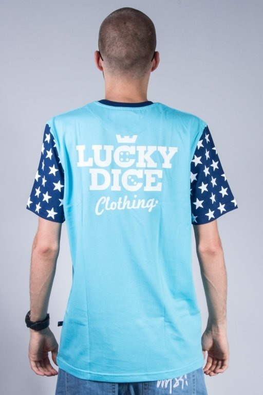 LUCKY DICE T-SHIRT STAR BLUE