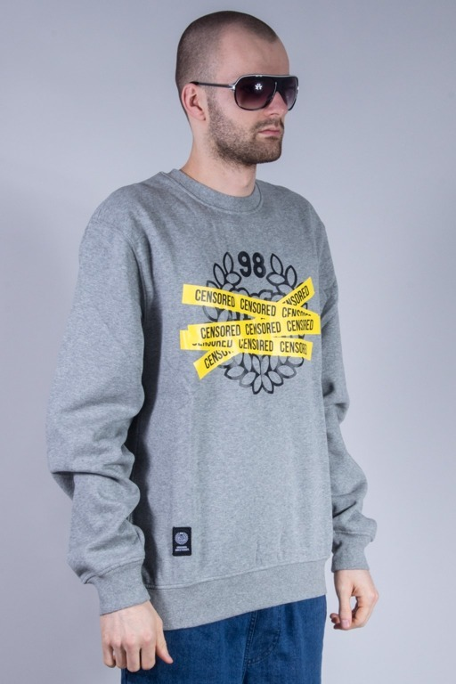 MASS BLUZA BEZ KAPTURA CENSORED GREY