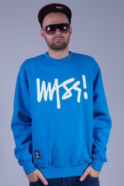 MASS BLUZA BEZ KAPTURA SIGNATURE BLUE