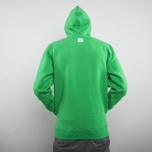 MASS BLUZA Z KAPTUREM BASE 013 FV GREEN-WHITE