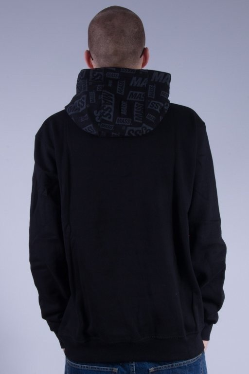 MASS BLUZA Z KAPTUREM LOGOS BLACK