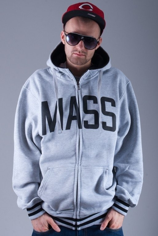MASS BLUZA Z KAPTUREM ZIP IVY LEAGUE MELANGE