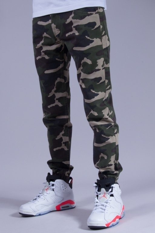 MASS SPODNIE CHINO JOGGER BASE CAMO