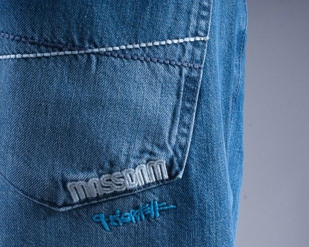 MASS SPODNIE JEANS ICON BLUE