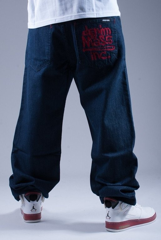 MASS SPODNIE JEANS NAUGHTY DARK BLUE