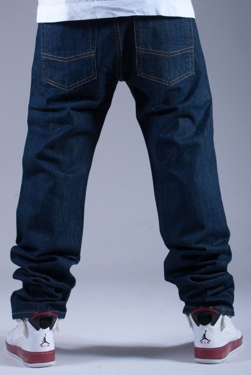MASS SPODNIE JEANS STRAIGHT DOPE DARK