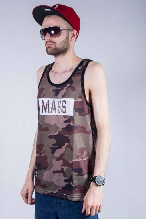 MASS TANK TOP BATTLE MESH GREEN CAMO