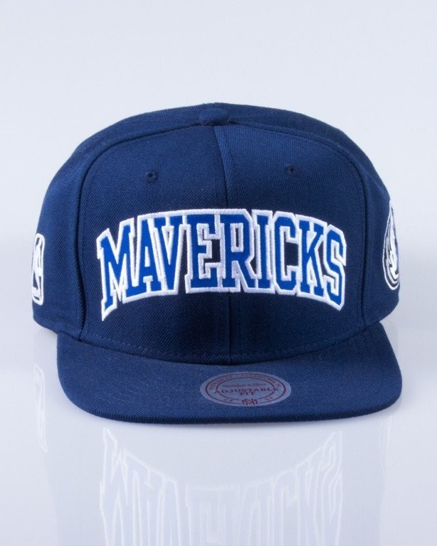 MITCHELL & NESS CZAPKA SNAPBACK DALLAS MAVERICKS SATIN NAVY