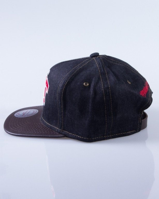 MITCHELL & NESS CZAPKA SNAPBACK DARK DENIM MIAMI HEAT