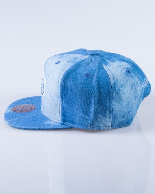 MITCHELL & NESS CZAPKA SNAPBACK EU129 LOS ANGELES LAKERS DYED DENIM