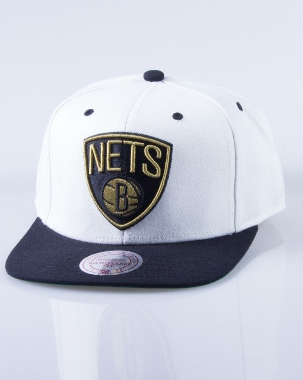 MITCHELL & NESS CZAPKA SNAPBACK NL16Z CREAM TOP VELCRO BROOKLYN NETS
