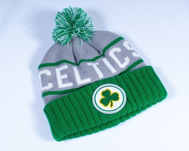 MITCHELL & NESS CZAPKA ZIMOWA KJ46Z BOSTON CELTICS GREY